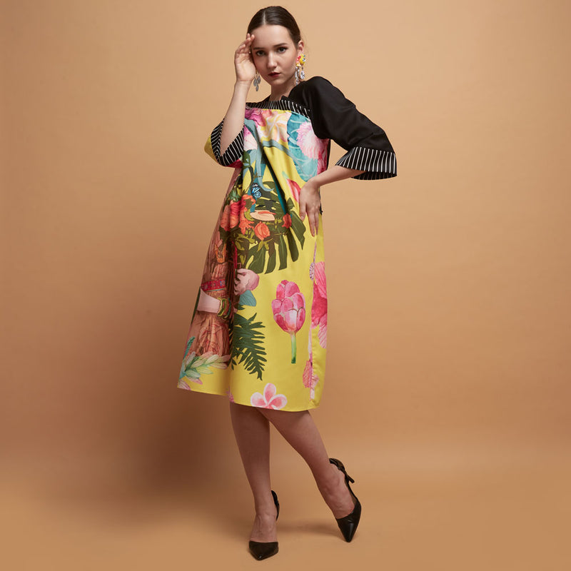 Macy Dress With Frida Spring in Yellow-2Madison Avenue Indonesia