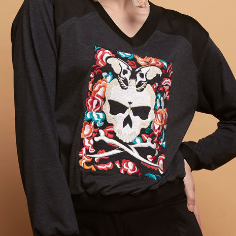 Gwen Sweater With Skull Embroidery #2-2Madison Avenue Indonesia