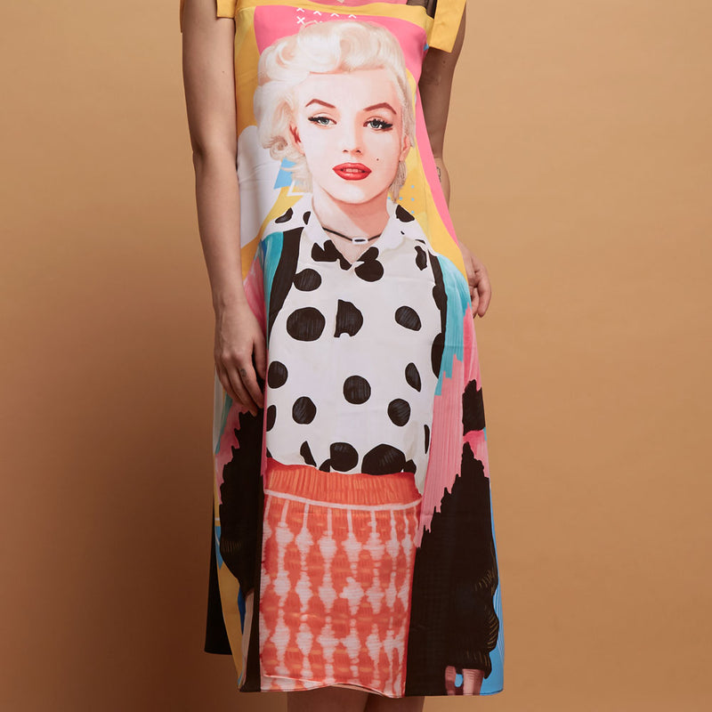 Gomez Dress With Marylin Pop Art-2MADISONAVENUE.COM