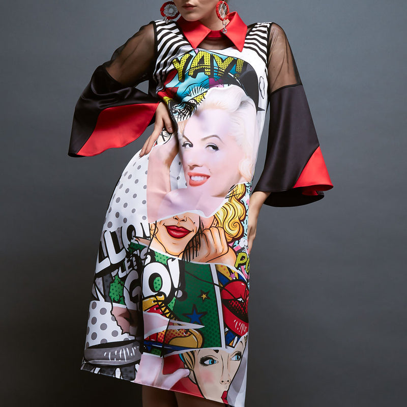 Perry Dress With Marylin Pow Art-2Madison Avenue Indonesia