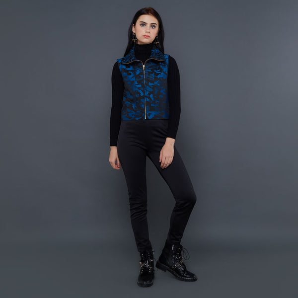Destiny Army Fancy Vest Blue-2Madison Avenue Indonesia