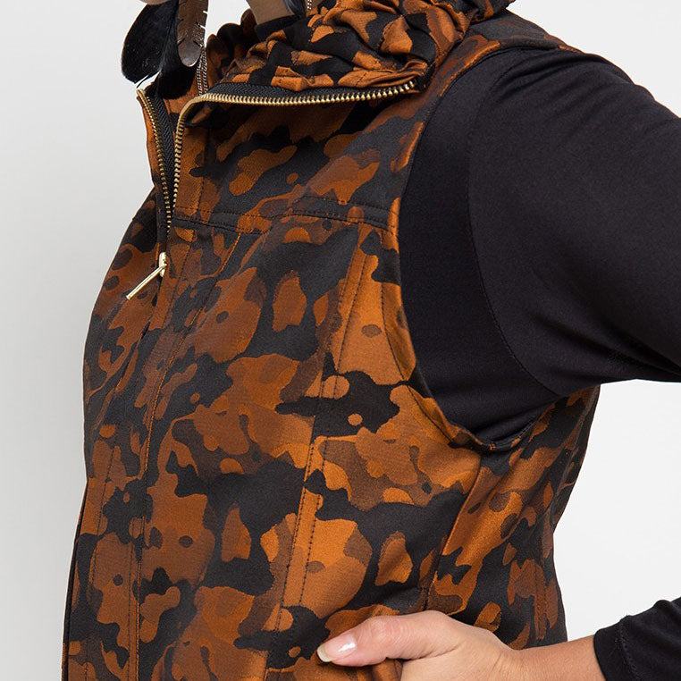 Destiny Army Fancy Vest Orange-2MADISONAVENUE.COM