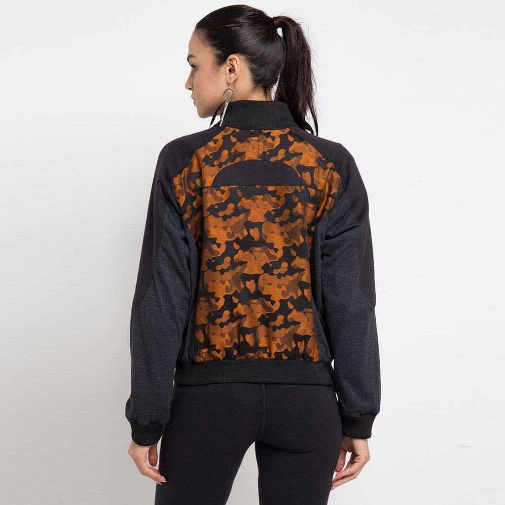 Destiny Army Varsity Jacket In Orange-2MADISONAVENUE.COM