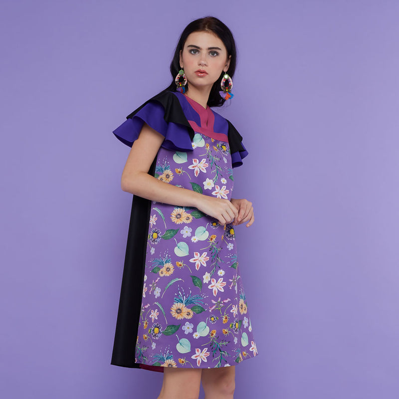 Tango Dress With Spring Garden in Purple