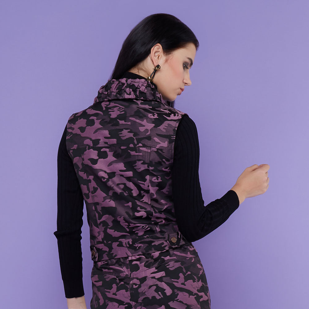 Destiny Army Fancy Vest Purple-2MADISONAVENUE.COM