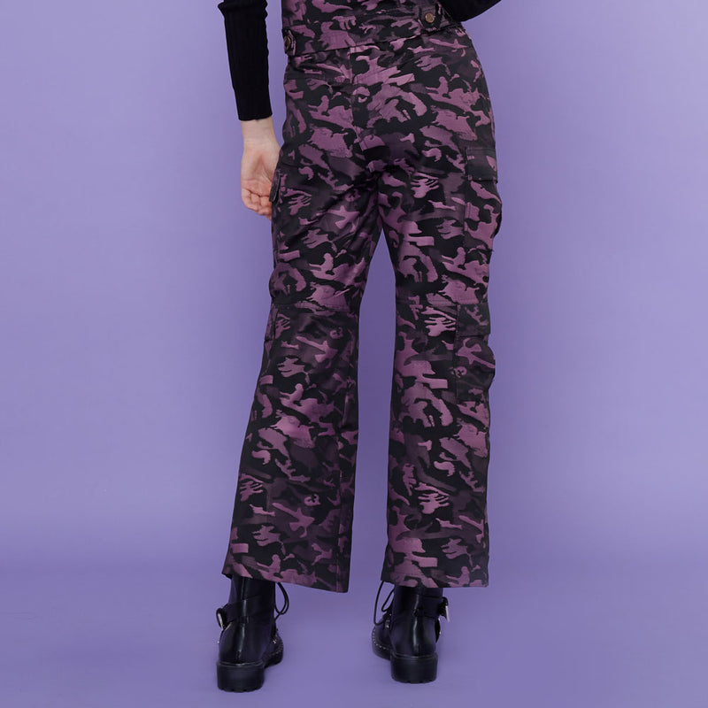 Destiny Army Cargo Pants Purple-2MADISONAVENUE.COM