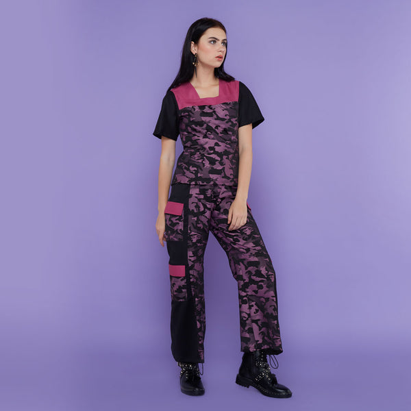 Destiny Army Cargo Pants Black Purple-2Madison Avenue Indonesia