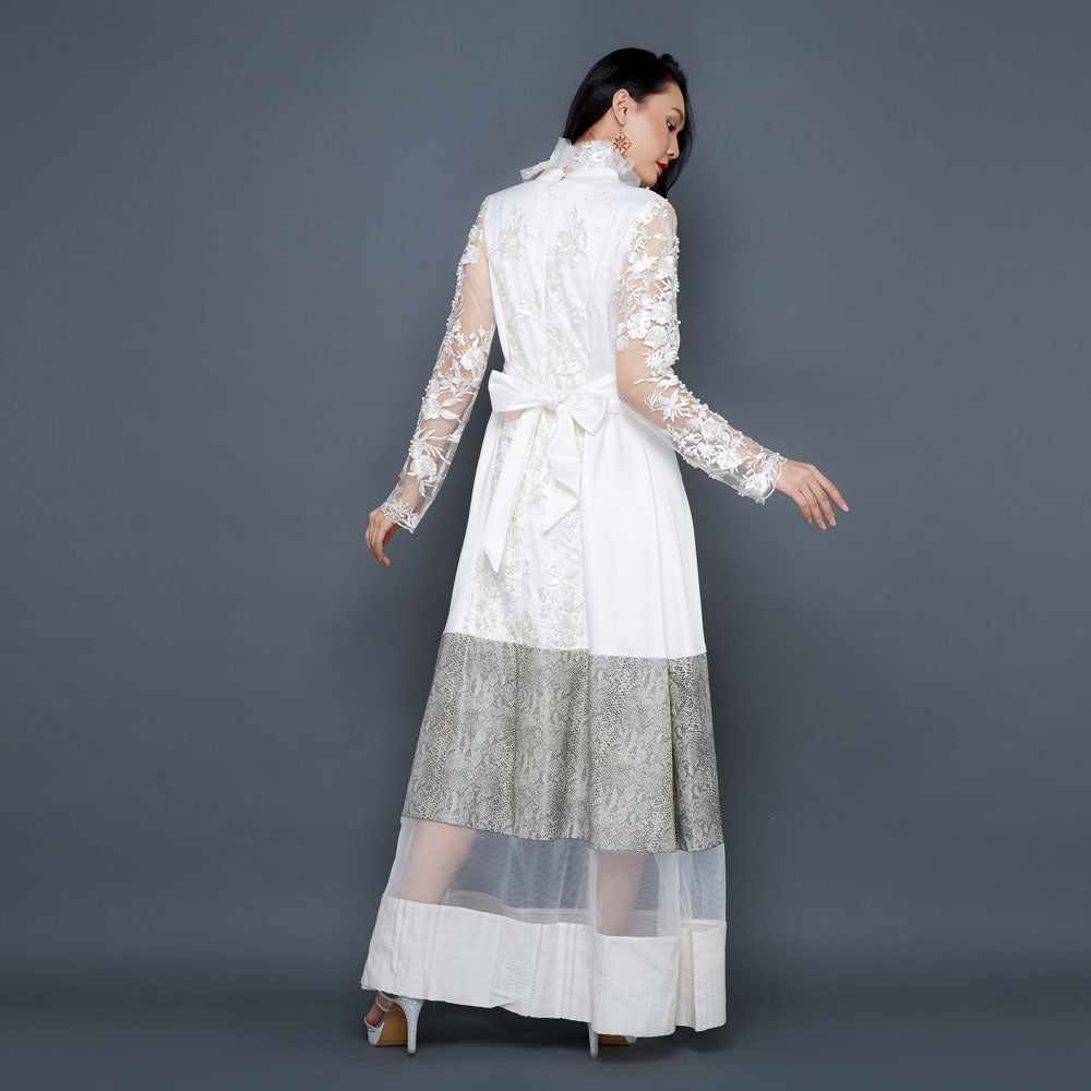 Jane Lace Long Dress in White-2MADISONAVENUE.COM (1930739548202)