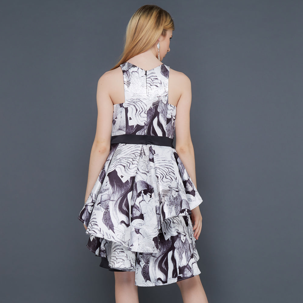 Carrie in the City Dress With Parsian Black-2MADISONAVENUE.COM
