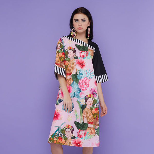 Macy Dress With Frida Pink Bliss