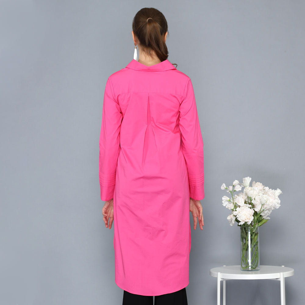 Smart Shirt with Tail in Pink Barbie-2MADISONAVENUE.COM