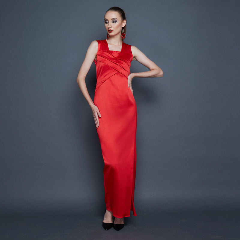 Classic Marilyn Long Dress-2MADISONAVENUE.COM