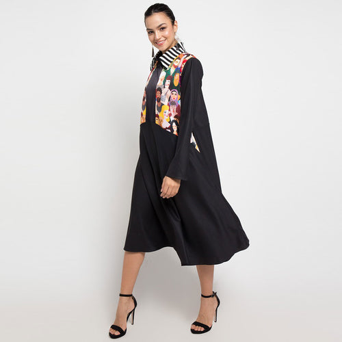 Kimberly Black Dress with Diversity-2Madison Avenue Indonesia