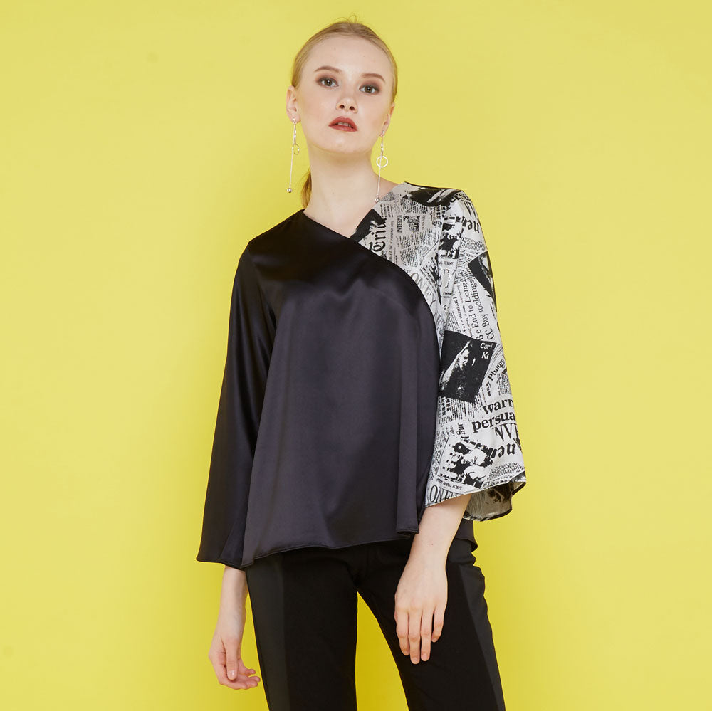 Ivanka Top with NewsPrint Art-2Madison Avenue Indonesia