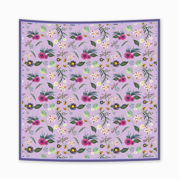 Spring Garden in Soft Purple Scarf
