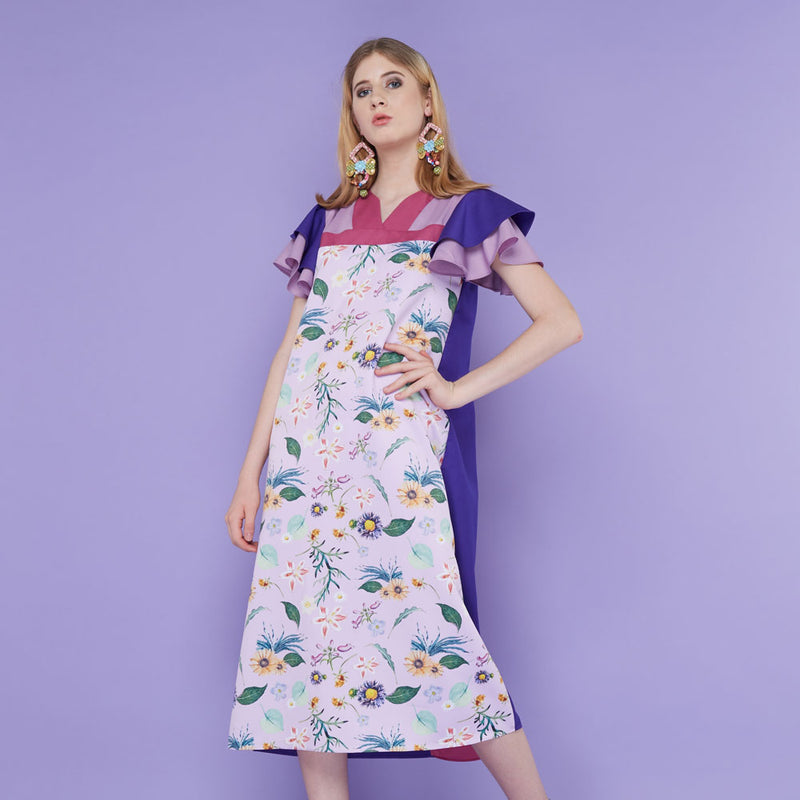 Tango Dress With Spring Garden in Lavender