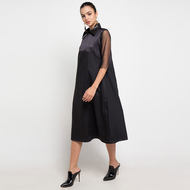 Regal Mid-Dress In Black-2Madison Avenue Indonesia