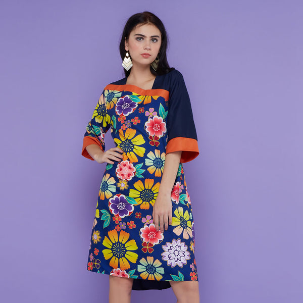 Macy Dress In Orbital Floral