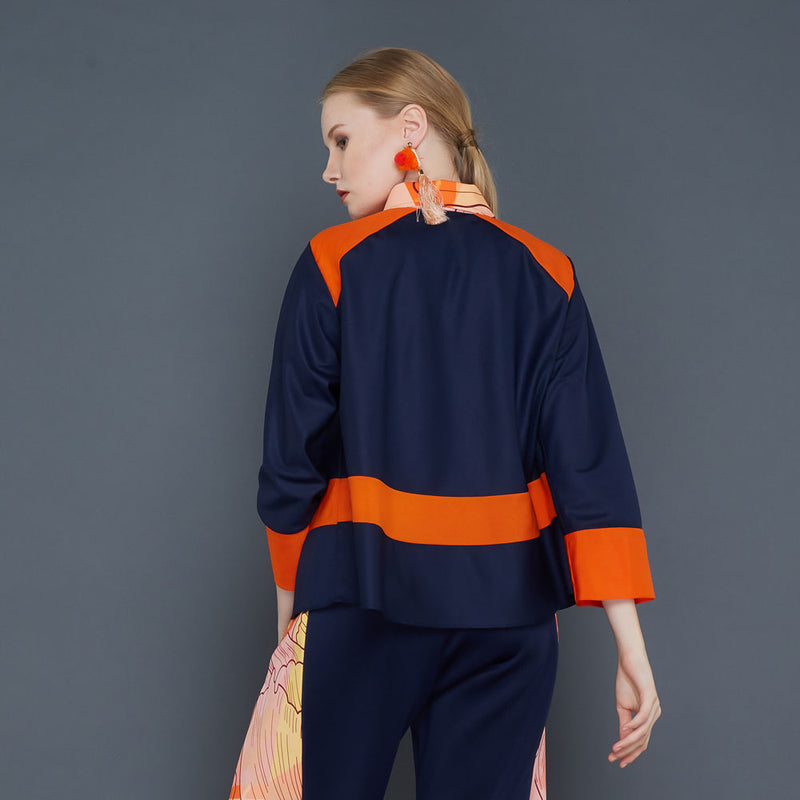 Melani Top With Orbital Orange XXXL