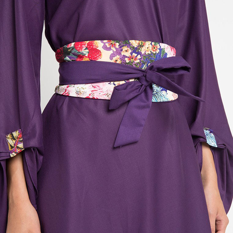 Fancy Belt with Mi Miami Purple-2MADISONAVENUE.COM