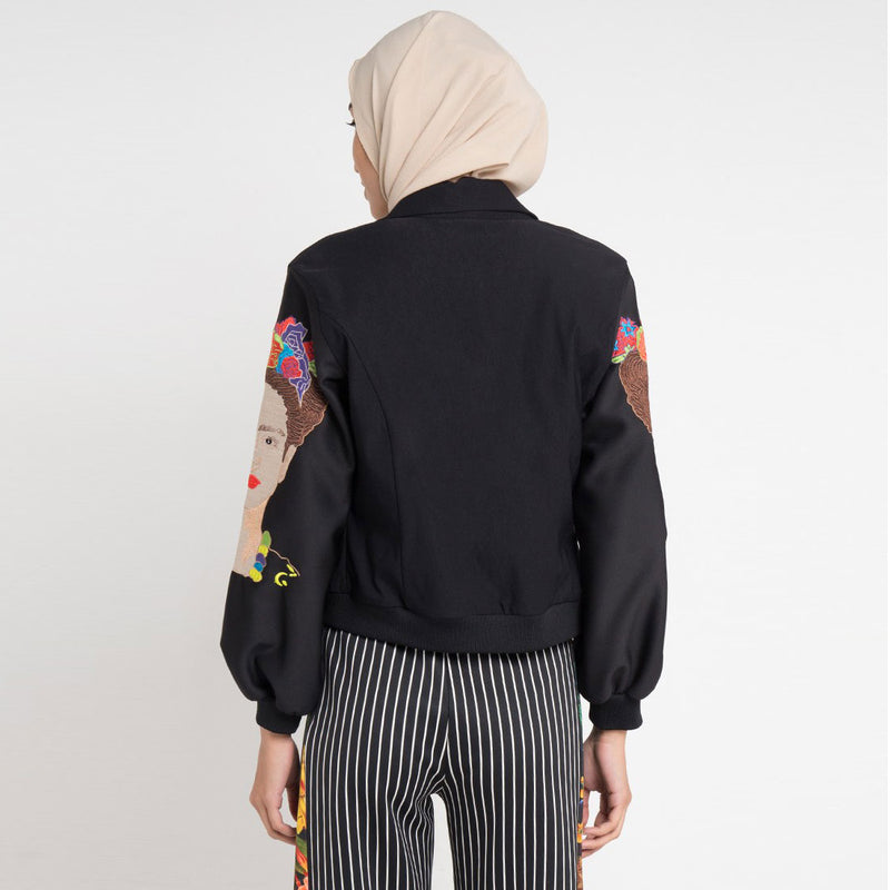 J-Lo Jacket with Frida Embroidery on Sleeve-2Madison Avenue Indonesia