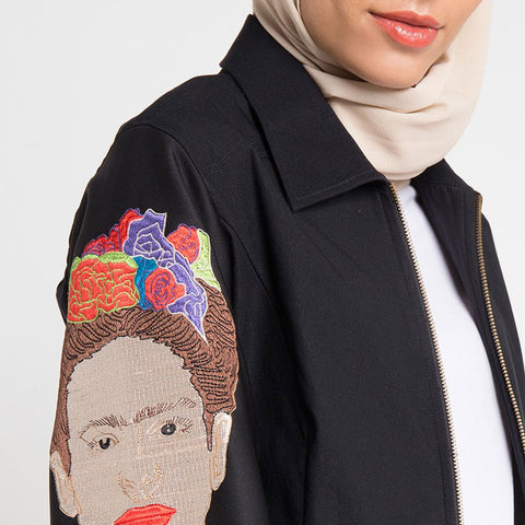 Ladies Jacket with Belt with Diversity Art