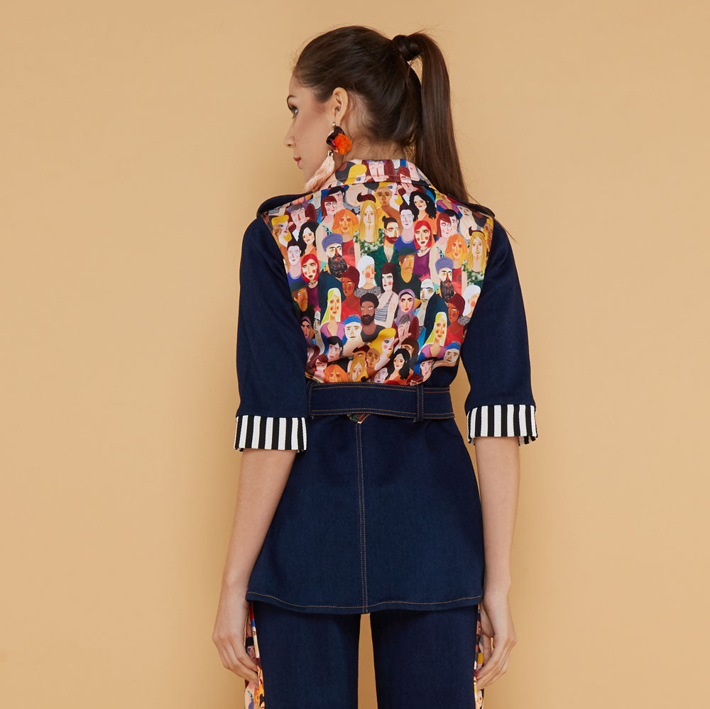 Ladies Jacket with Belt with Diversity Art-2Madison Avenue Indonesia