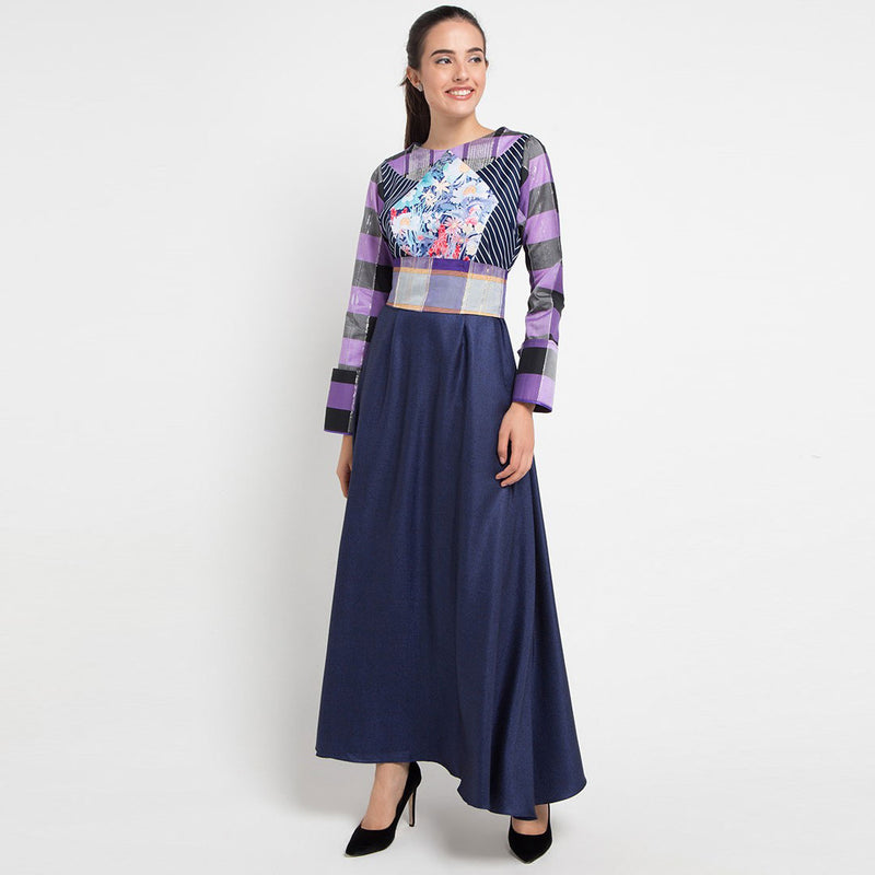 Patricia Long Dress with Tenun Sleeve-2Madison Avenue Indonesia