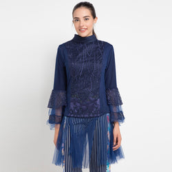 Shakira Top With Lace Navy-2Madison Avenue Indonesia
