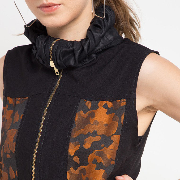 Fancy Vest With Army Orange-2Madison Avenue Indonesia