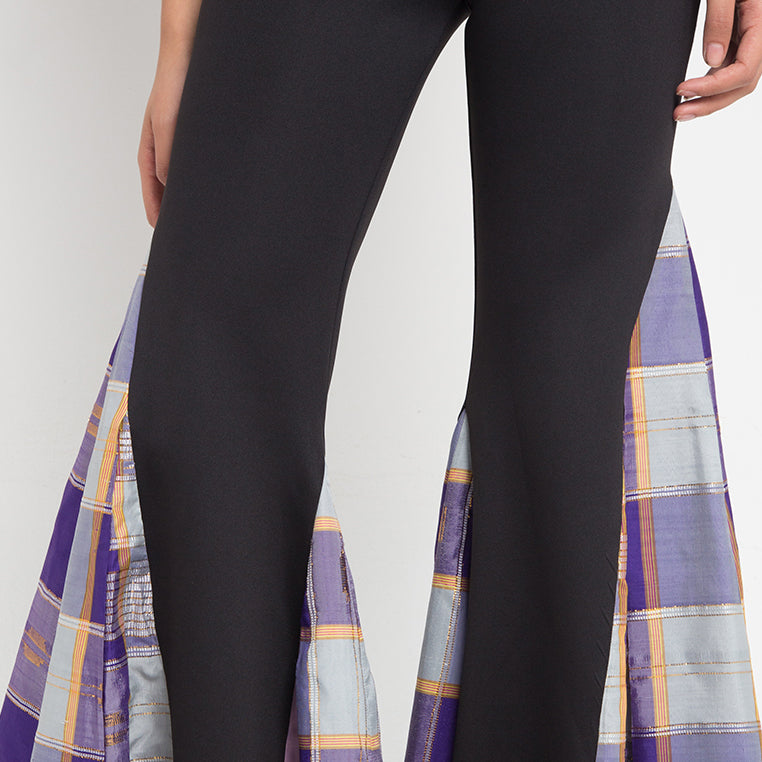 Bell Bottom Pants With Saroong-2MADISONAVENUE.COM