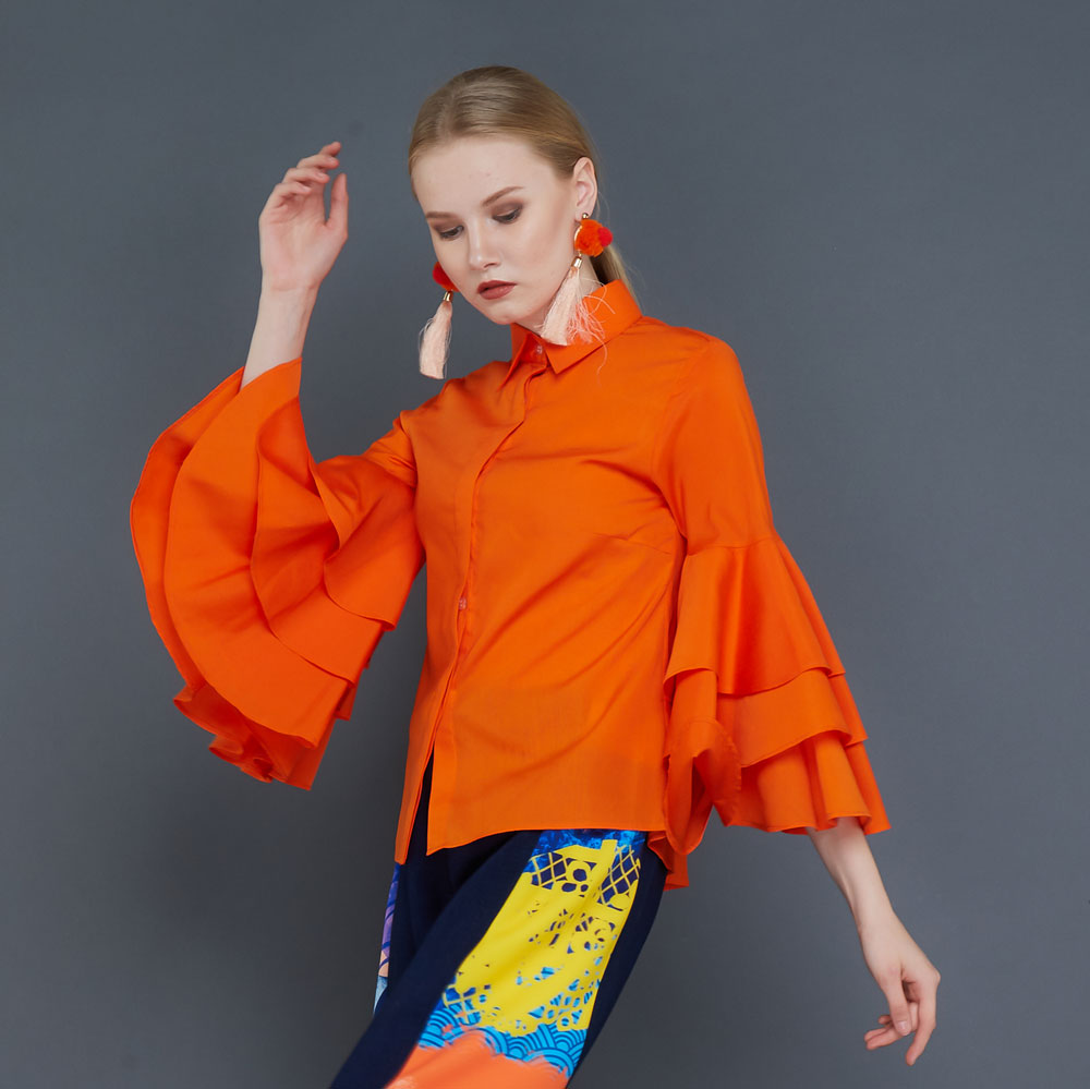 Tango Shirt in Orange-2MADISONAVENUE.COM (1920990674986)