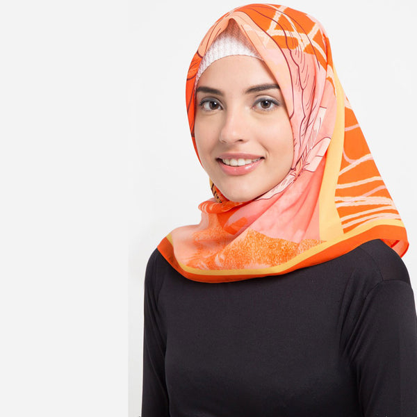 Secret Orbital Orange Scarf-2Madison Avenue Indonesia