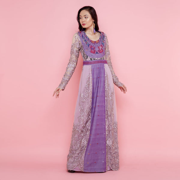 Helena Violet Dress With Sequins