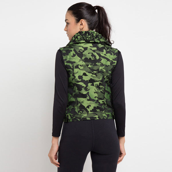 Destiny Army Fancy Vest Green-2Madison Avenue Indonesia