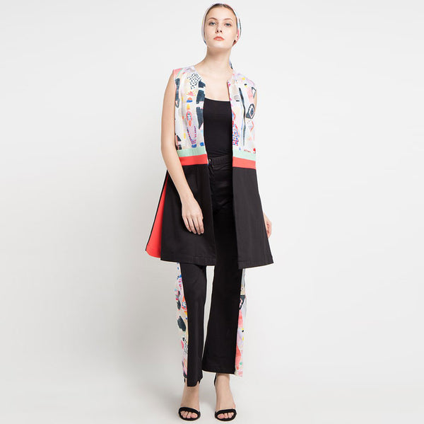 Fancy Outer / Jacket with Abstraction Art-2MADISONAVENUE.COM