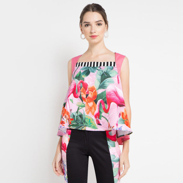 Carrie Blouse with Miami Pink-2MADISONAVENUE.COM