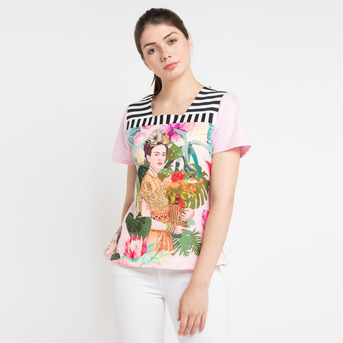 T-shirt Frida in Pink Bliss-2Madison Avenue Indonesia