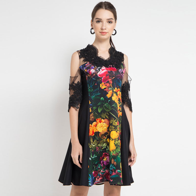 Mi Miami Black Peek a Boo Dress-2Madison Avenue Indonesia