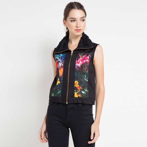 Mi Miami Black Fancy Vest-2Madison Avenue Indonesia