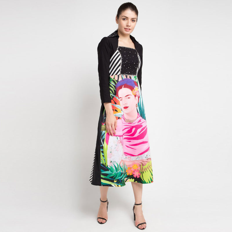 Merry Frida Dress with Long Sleeve in Black Bliss with Sequins-2Madison Avenue Indonesia