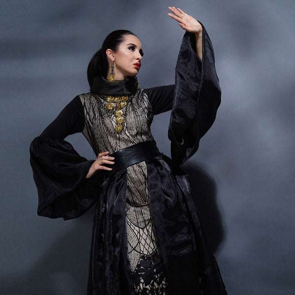 Shamira Meghan Dress In Black-2Madison Avenue Indonesia