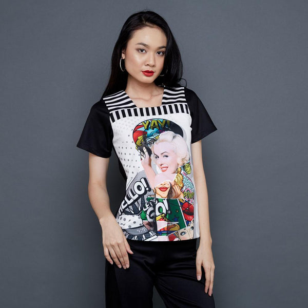 T-Shirt In Marilyn Pow Art