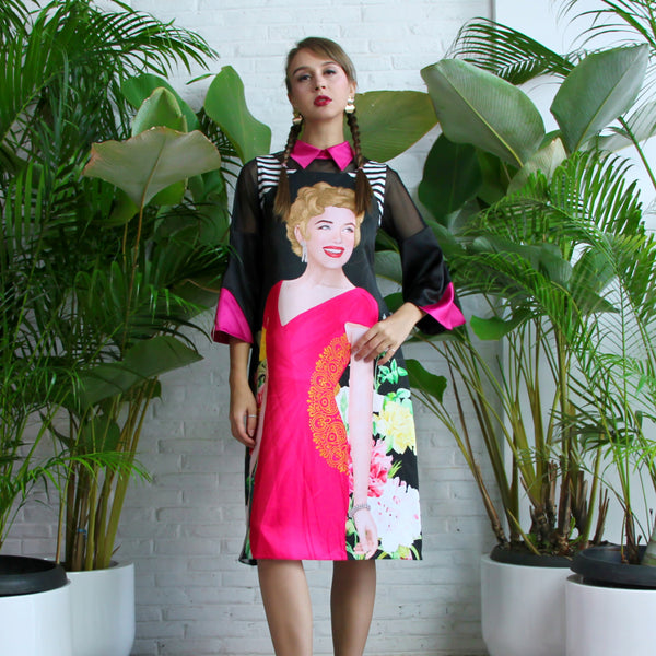 Perry Dress With Marilyn Tropical Art