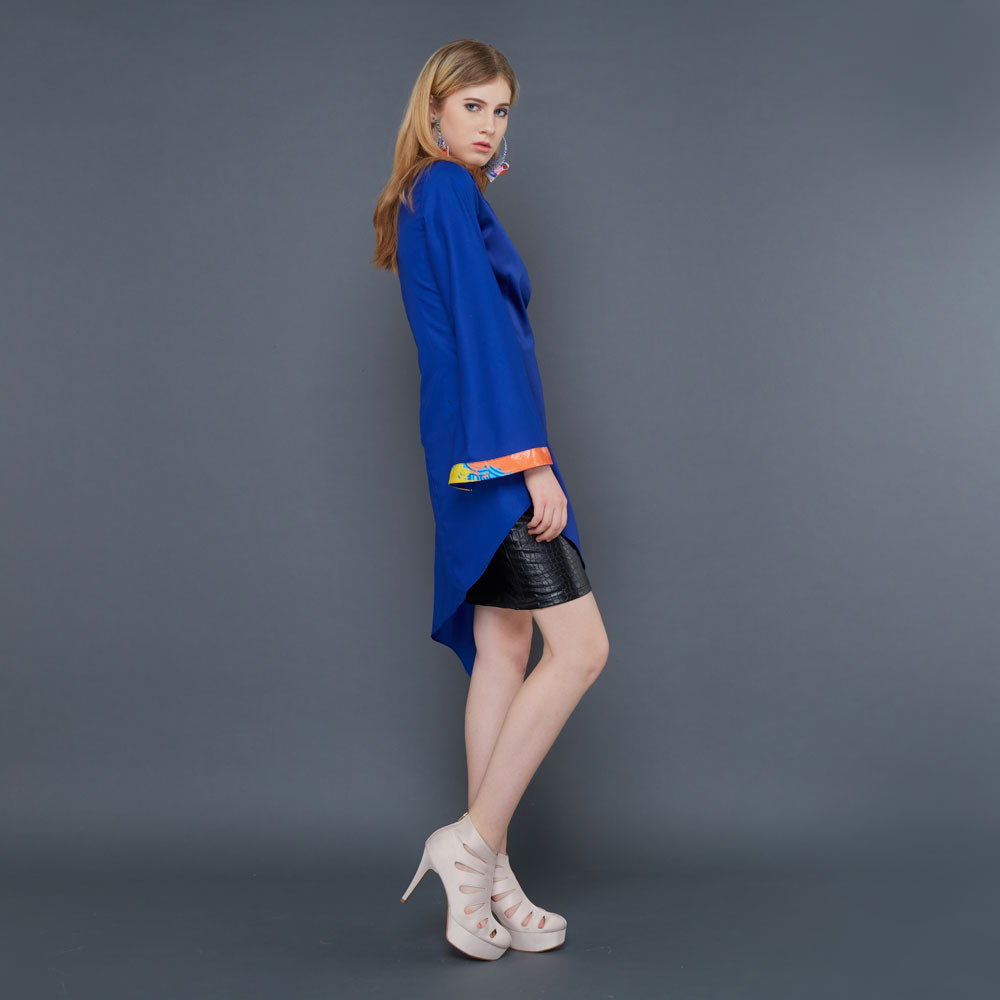Mady Top In Blue-2MADISONAVENUE.COM