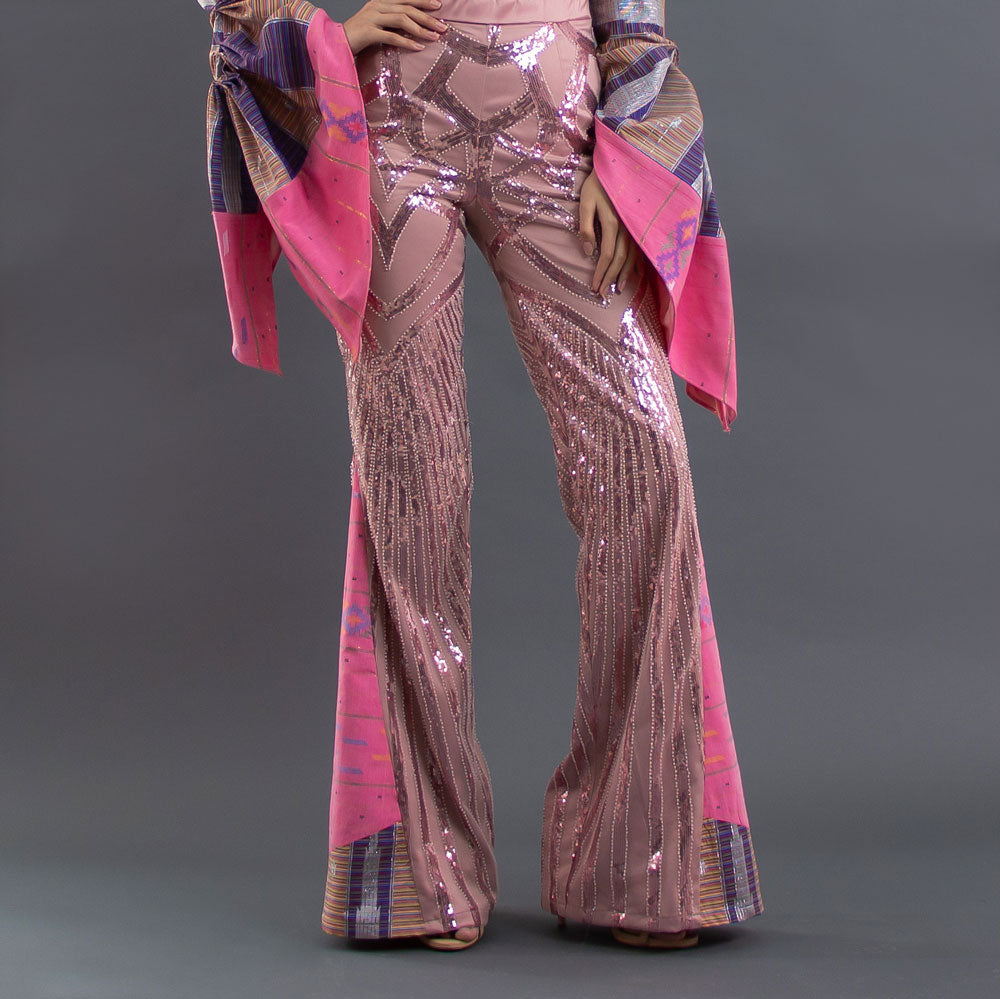 Helena High Waisted Pant With Sequin-2Madison Avenue Indonesia