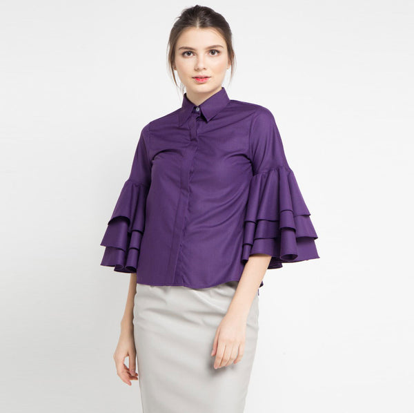 Tango Shirt in Purple-2Madison Avenue Indonesia