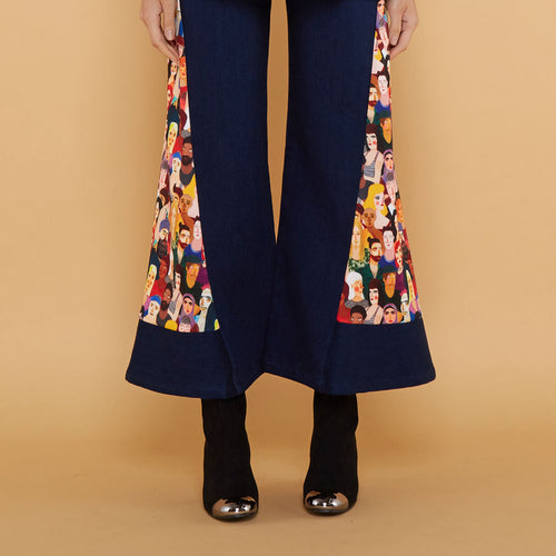 Boho Chic Denim Cullotes with Diversity Art-2Madison Avenue Indonesia