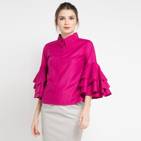 Tango Shirt in Fuchsia-2Madison Avenue Indonesia