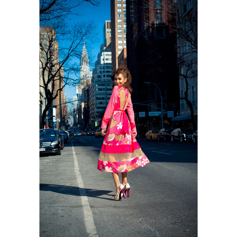 Gwyneth Dress in Pink Surprise Sunrise-2Madison Avenue Indonesia